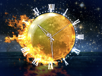 Fire Element Clock screensaver